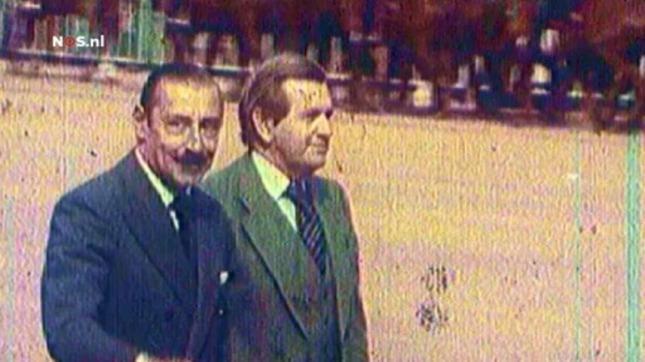 Jorge Zorreguieta, padre de Máxima y miembro de la Sociedad Rural Argentina junto al genocida Jorge Rafael Videla.