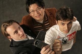 Steve Chen, Chad Hurley y Jawed Karim, fundadores de YouTube.