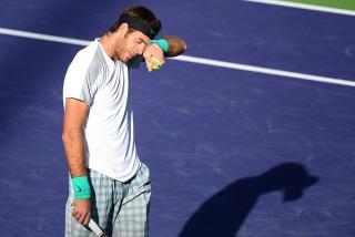 Delpo cansado Indian Wells '13 - Telam