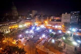 Una protesta con mucha presencia de dirigentes opositores pero pocos manifestantes frente al Congreso