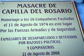 Comenzó el juicio por la masacre de Capilla del Rosario