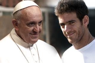 Del Potro se hizo un recreo y fue a ver al papa Francisco al Vaticano