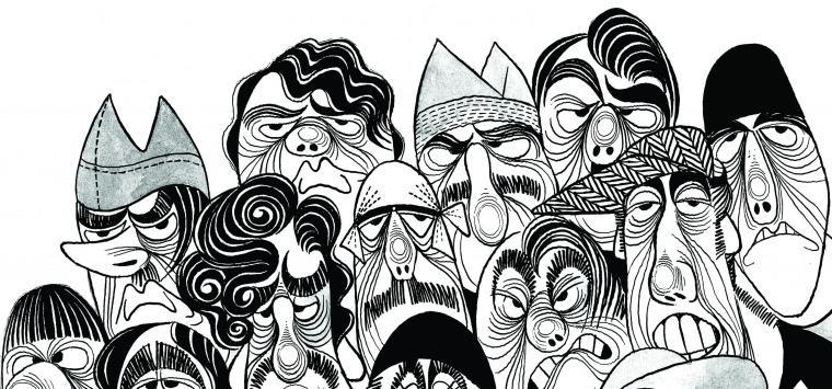"""Resultado de imagen para """"Calé: Trapitos al sol"""" en el MuHu - Museo del Humor"""