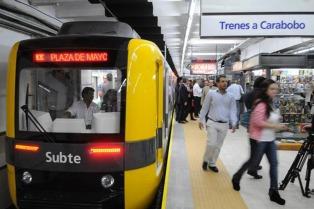 La línea A del subte prestará servicio reducido por obras desde el sábado hasta el lunes