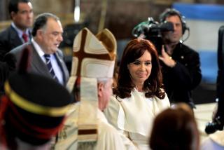 Acompañada por todo el Gabinete, la Presidenta asiste al tedeum en Luján