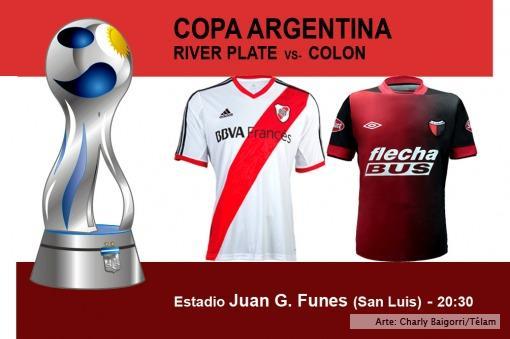River y Colón se miden por los octavos de final de la Copa Argentina