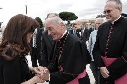 Cristina llegó a Roma y crece la expectativa por su reunión con el Papa
