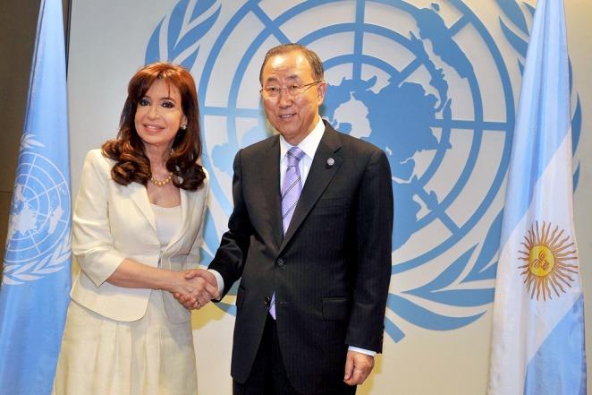 La Presidenta se reunió con Ban Ki-moon