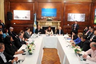 Deuda soberana: Cristina agradeció el apoyo del sindicalismo mundial