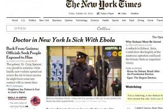 Un médico llegado de Guinea,  el primer caso de ébola en Nueva York
