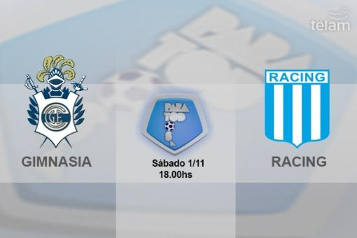 Frente a Gimnasia, Racing buscará esta tarde alcanzar a los punteros