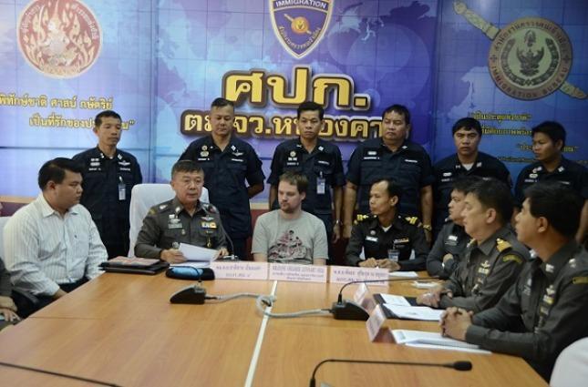 El arresto de Neij en Tailandia. Foto: Torrent Freak.