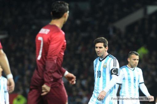 En un mal partido, Argentina perdió con Portugal sobre la hora