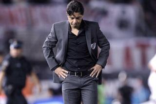 """Gallardo pidió """"mantener la tranquilidad"""" tras perder el Superclásico"""