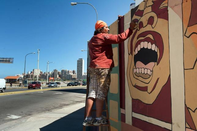 Inauguraron un mural sobre los derechos humanos y el for El mural pelicula