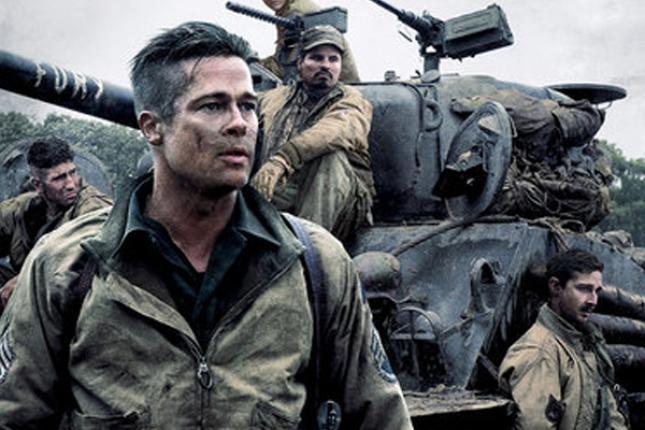 "Brad Pitt, protagonista del film ""Fury""."