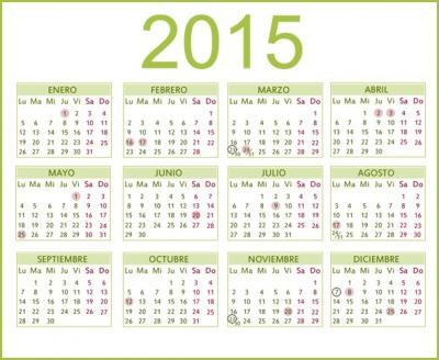 Las fechas a marcar del a o que reci n empez feriados for Calendario 2015 ministerio del interior
