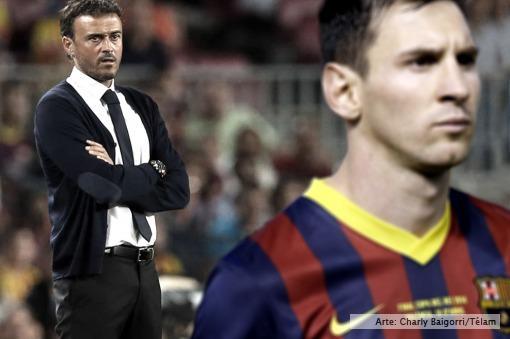 """Elogios de Luis Enrique: """"Messi tuvo nivel de crack, como está catalogado"""""""