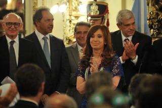Cristina agradeció a Capitanich y Manzur por su trabajo en el Gabinete