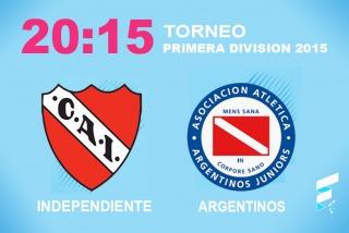 Un desmejorado Independiente recibe a Argentinos Juniors