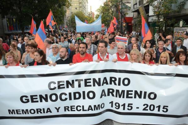La comunidad armenia de argentina realizó actos en varias ciudades por el centenario del genocidio
