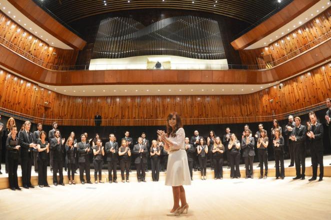 Cristina: �Estamos poniendo en marcha el centro cultural más importante de Latinoamérica�