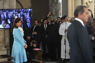 Acompañada por todo el Gabinete, la Presidenta asistió al tedeum en Luján