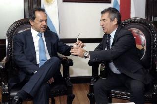 Scioli y Urribarri firmaron un compromiso por Entre Ríos