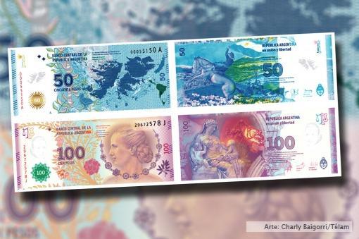 Los nuevos billetes de Eva Perón y Malvinas recibieron un reconocimiento internacional