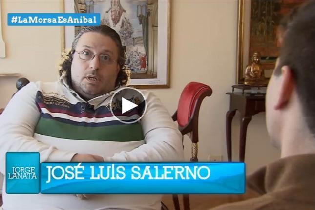 Captura del informe de Lanata con la entrevista a Salerno en la casa de la diputada Elisa Carrió.