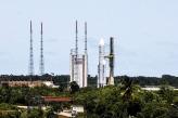 El Ariane 5 ya está en posición para ser lanzado mañana