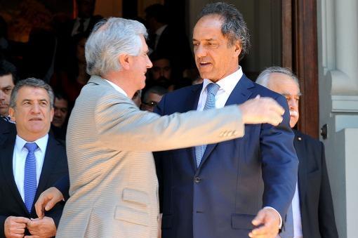 Scioli se reunió con Tabaré Vázquez
