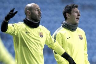 """Mascherano: """"Con Messi usamos a Barcelona para desestresarnos"""" de Argentina"""