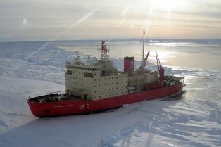 """El ministro Martínez dijo que el Irízar """"va a quedar chico"""" para las campañas antárticas"""