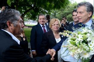El Presidente rinde homenaje en Olivos a  familiares de los caídos en Malvinas