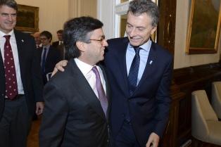 Macri recibió al titular del BID en Casa Rosada