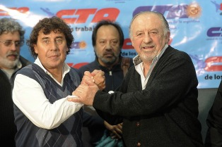 Yasky y Micheli acordaron la unificación de las dos CTA en 2018 y llamaron a un plenario