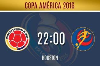 Colombia quiere el primer lugar del grupo frente a Costa Rica