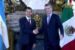 Junto a Pe�a Nieto, Macri dijo que Argentina y M�xico tienen