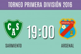 Con Arsenal-Sarmiento se abre la primera fecha del campeonato de Primera