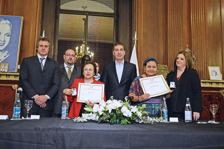 Macri recibió a las Premio Nobel Rigoberta Menchú y Shirin Ebadi