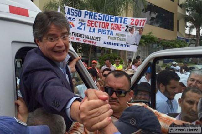 Guillermo Lasso, candidato opositor