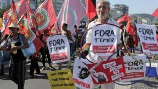 Protestas en San Pablo contra el ajuste fiscal de Temer