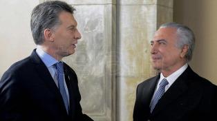 Macri y Temer le pidieron a sus equipos intensificar los avances en la agenda bilateral