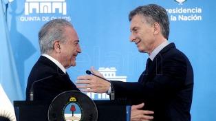 """Antes de la visita de Macri, Brasil asegura que la relación bilateral pasa por una """"especial convergencia"""""""