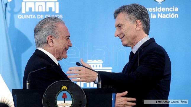 En febrero Macri viaja a Brasil para encontrarse con Temer