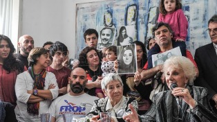 Las Abuelas de Plaza de Mayo anunciarán el martes la recuperación del nieto 122