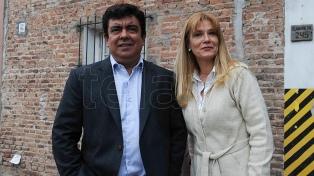 Magario y Espinoza, de campaña, se mostraron junto a Secco