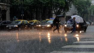 Alerta por un temporal en el área Metropolitana
