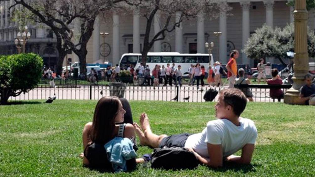 Viernes soleado y con máxima de 27° en la Ciudad de Buenos Aires